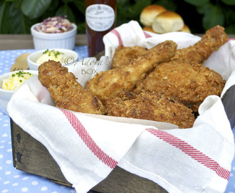 EASY OVEN FRIED BUTTERMILK CHICKEN