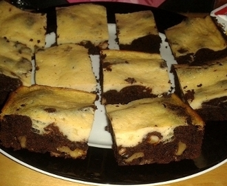 "American ""Cheese""cake Brownies (Vegan)"