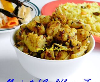 Pan Fried Cauliflower / Marinated Cauliflower Fry