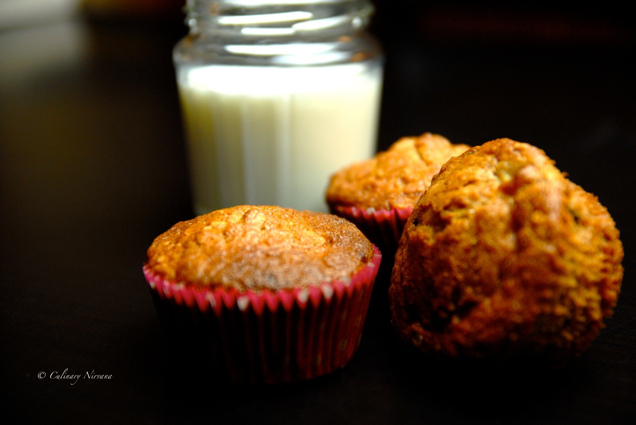 Banana, oats and chocolate chip muffins!