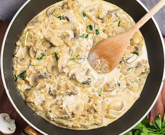 Creamy Garlic Mushrooms – Ready in 20 mins