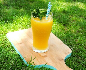 Mango ice tea slushy