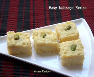 Kalakand Recipe - Instant Kalakand Recipe - Easy Diwali Sweet Recipe