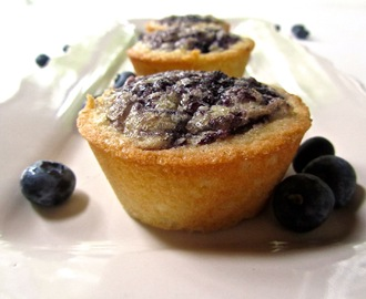 Lemon Teacakes with a Blueberry Swirl and Sugar Crust (GF)