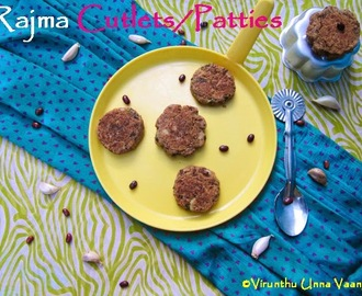 RAJMA CUTLETS/RED KIDNEY BEANS PATTIES