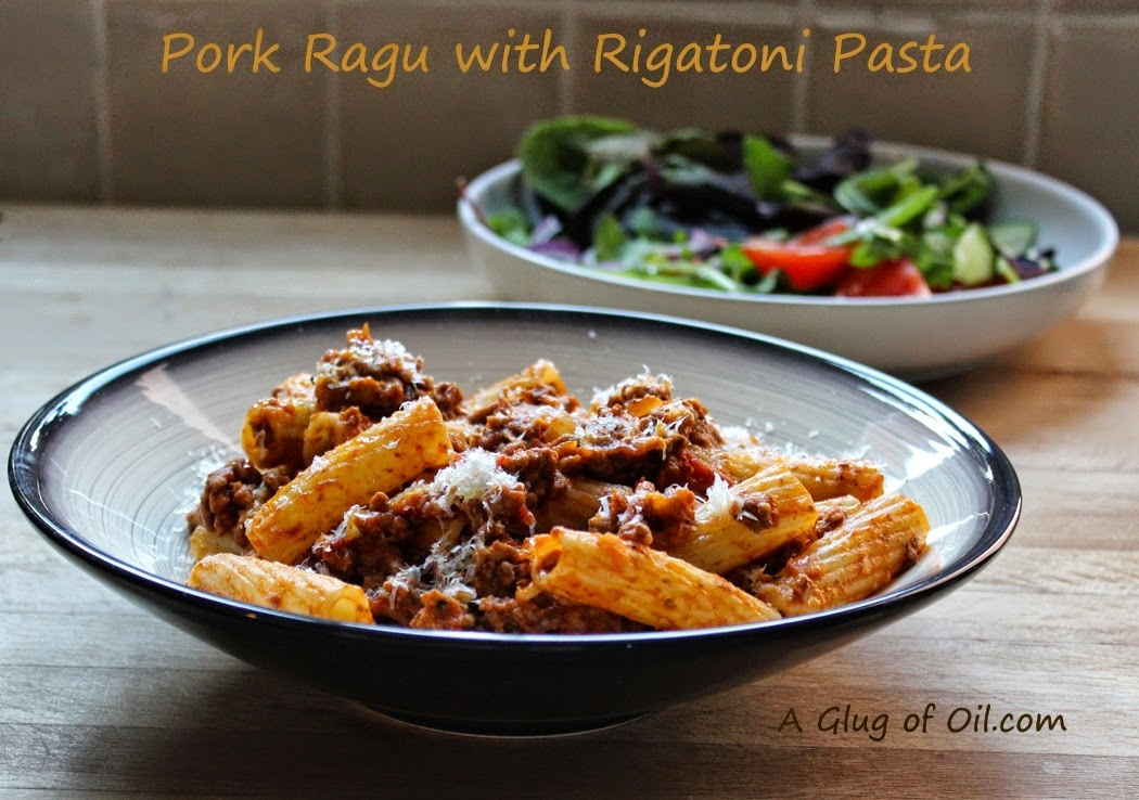 Pork Ragu with Rigatoni Pasta
