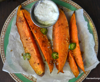 It's 5 O'Clock Somewhere Friday: Sweet Potato Spears with Lemongrass Dip