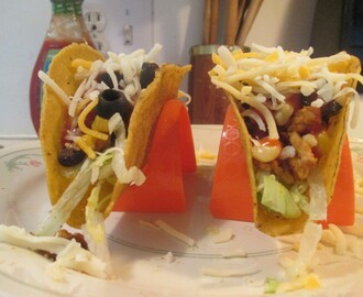 It's Taco Friday, Black Bean and Ground Turkey Tacos!