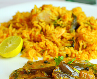 How to make Biryani Kathirikkai / Tangy Brinjal Gravy / An ideal side dish for Biryani: