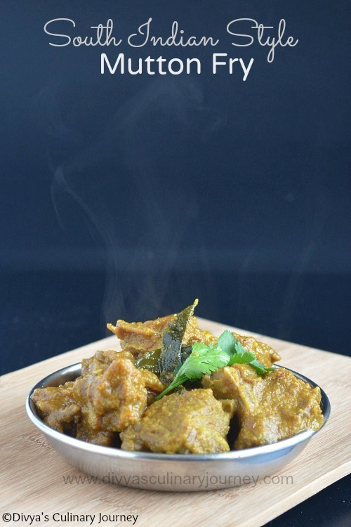 Mutton Fry -South Indian Style