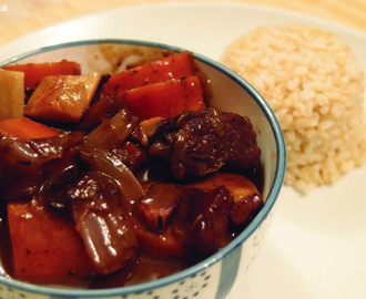 Yet again a Boeuf Bourguignon recipe Julia Child style