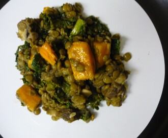 Experimental Kale and Lentil Dish