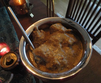 Green Chicken Korma, Chicken Rizzala (Bhopal)