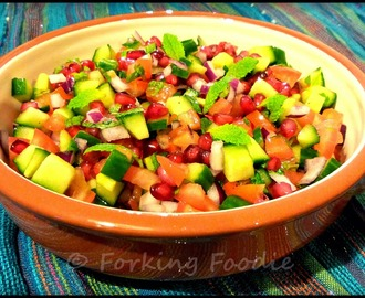 Salad Shirazi with Pomegranate Seeds