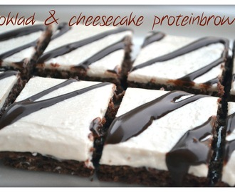 Choklad & cheesecake proteinbrownies