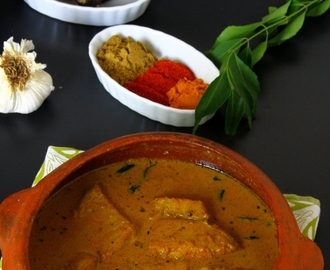 Spicy & Tangy Kerala Fish Curry (Fish In Tamarind & Coconut Milk Sauce)