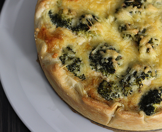 Quiche met broccoli en geitenkaas
