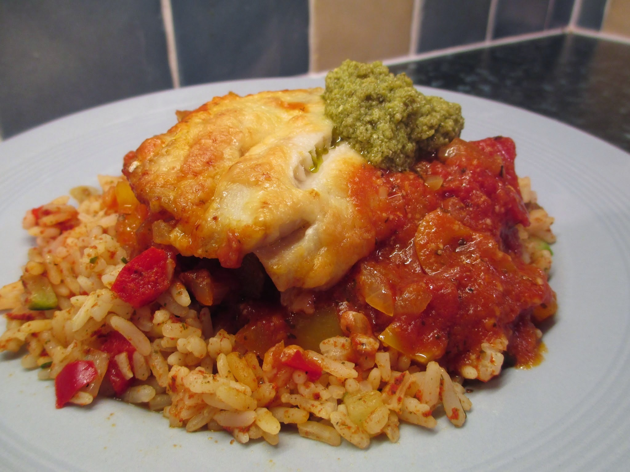 Italian style fish and rice 71p per portion