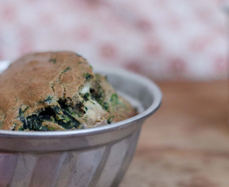 "Little Spinach and Chèvre Cakes: ""Il faut ce faire..."