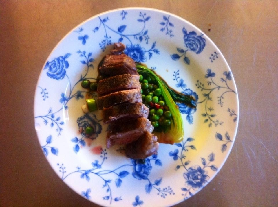 Recipe: Five Spice Duck with Gin Greens