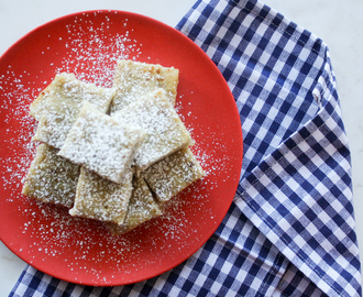 Receta: Blondies de plátano y chocolate blanco