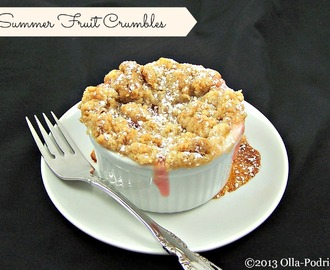 Summer Fruit Crumbles