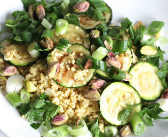 Meenneem lunch: gegrilde courgette salade