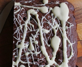 Triple chocolate and cherry traybake