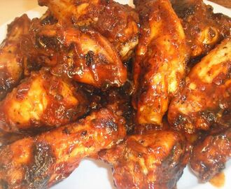 Barbecue Chicken Wings with Chipotle-Maple Sauce