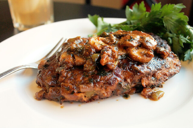Creole Salisbury Steak with Mushroom Gravy