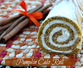 Pumpkin Cake Roll & {Thanksgiving Recipe Round Up}