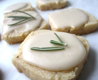 Gluten Free Meyer Lemon and Rosemary Icebox Cookies
