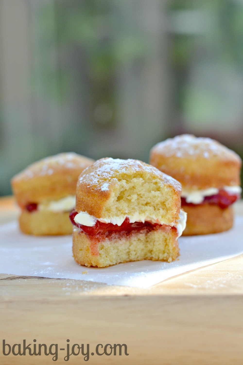 Mini Victoria Sandwiches with Clotted Cream and Homemade Strawberry Jam