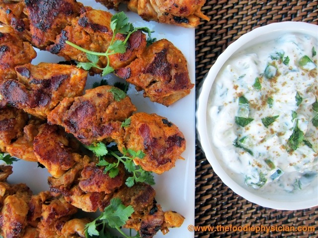 Cook Once, Eat Twice: Tandoori Chicken Kabobs
