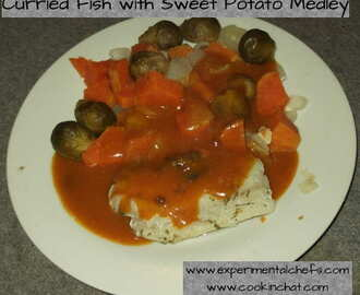Curried Fish with Sweet Potato Medley
