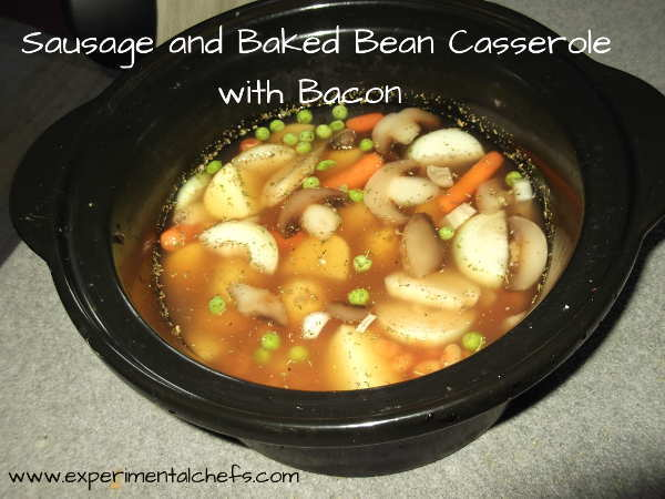 Sausage and Baked Bean Casserole with Bacon
