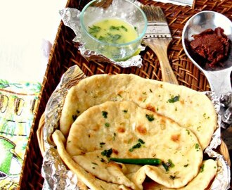 Naan with garlic butter / Restuarant style soft naans made in oven / A detailed post