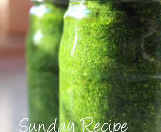 Sunday Recipe: Homemade Pesto