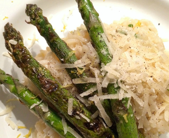 Risotto met groene asperges