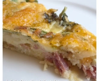 Ham Cheese and Kale Quiche