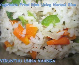 VEGETABLE FRIED RICE USING NORMAL RICE