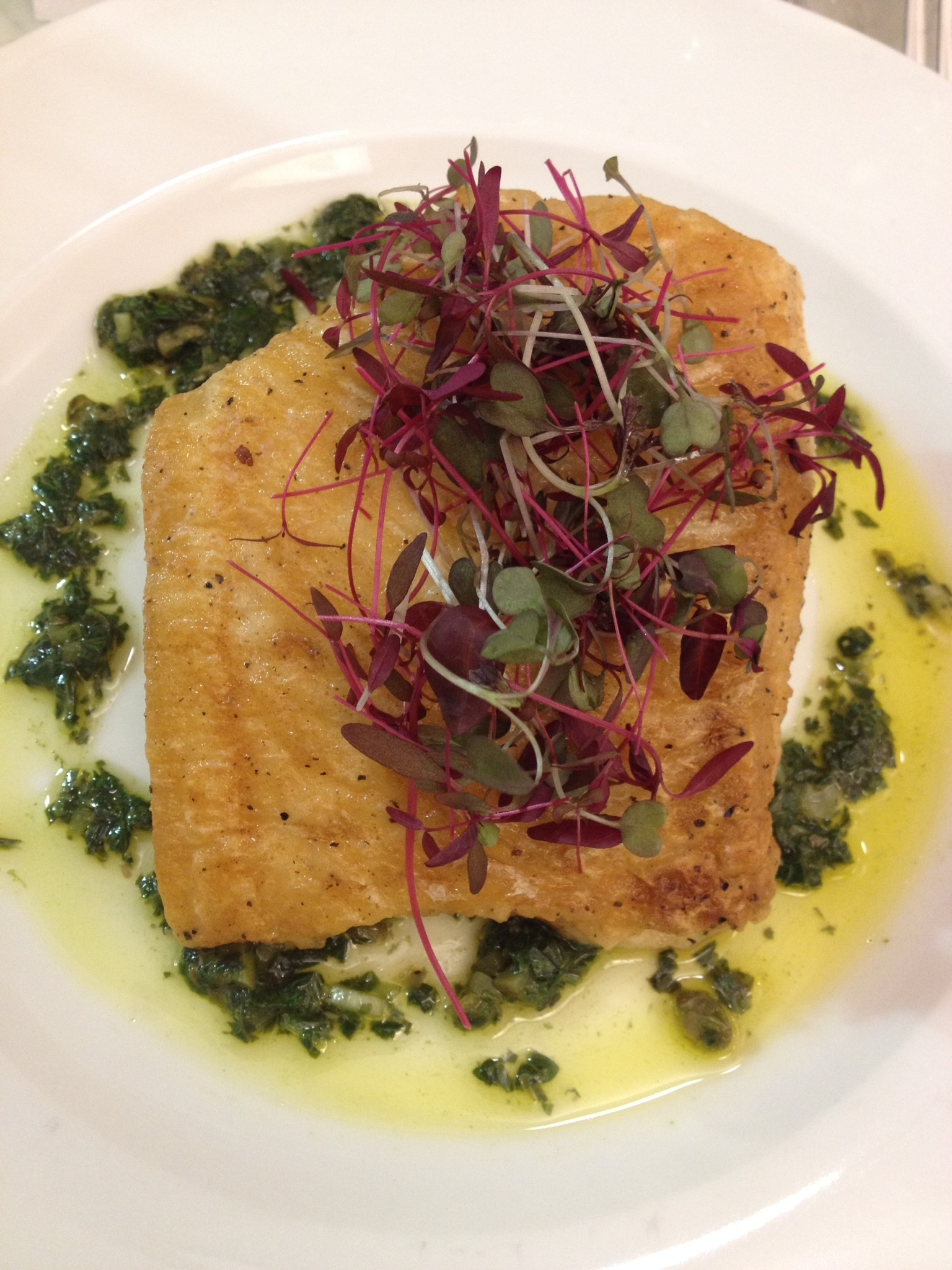 Fish recipe: Pan Fried Gigha Halibut with Salsa Verde