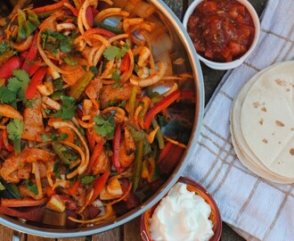 Easy Oven Baked Chicken Fajitas