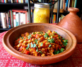 Moroccan Chickpea Stew with Preserved Lemon