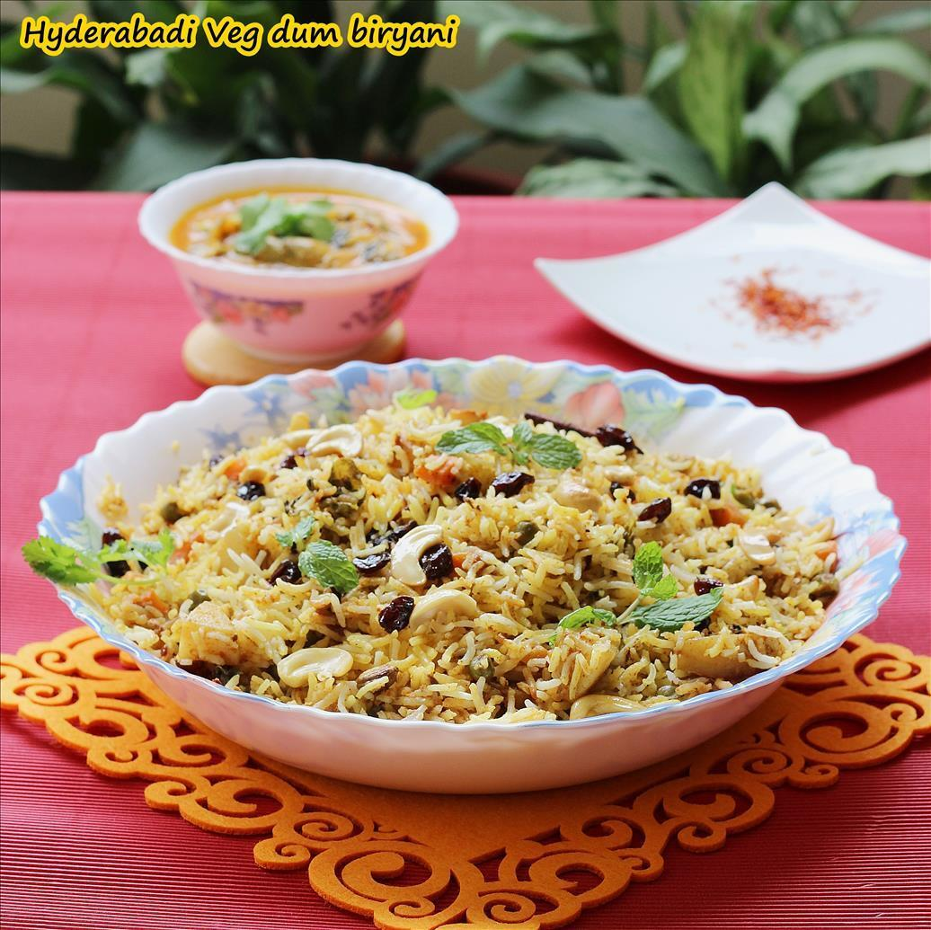 Hyderabadi vegetable dum biryani
