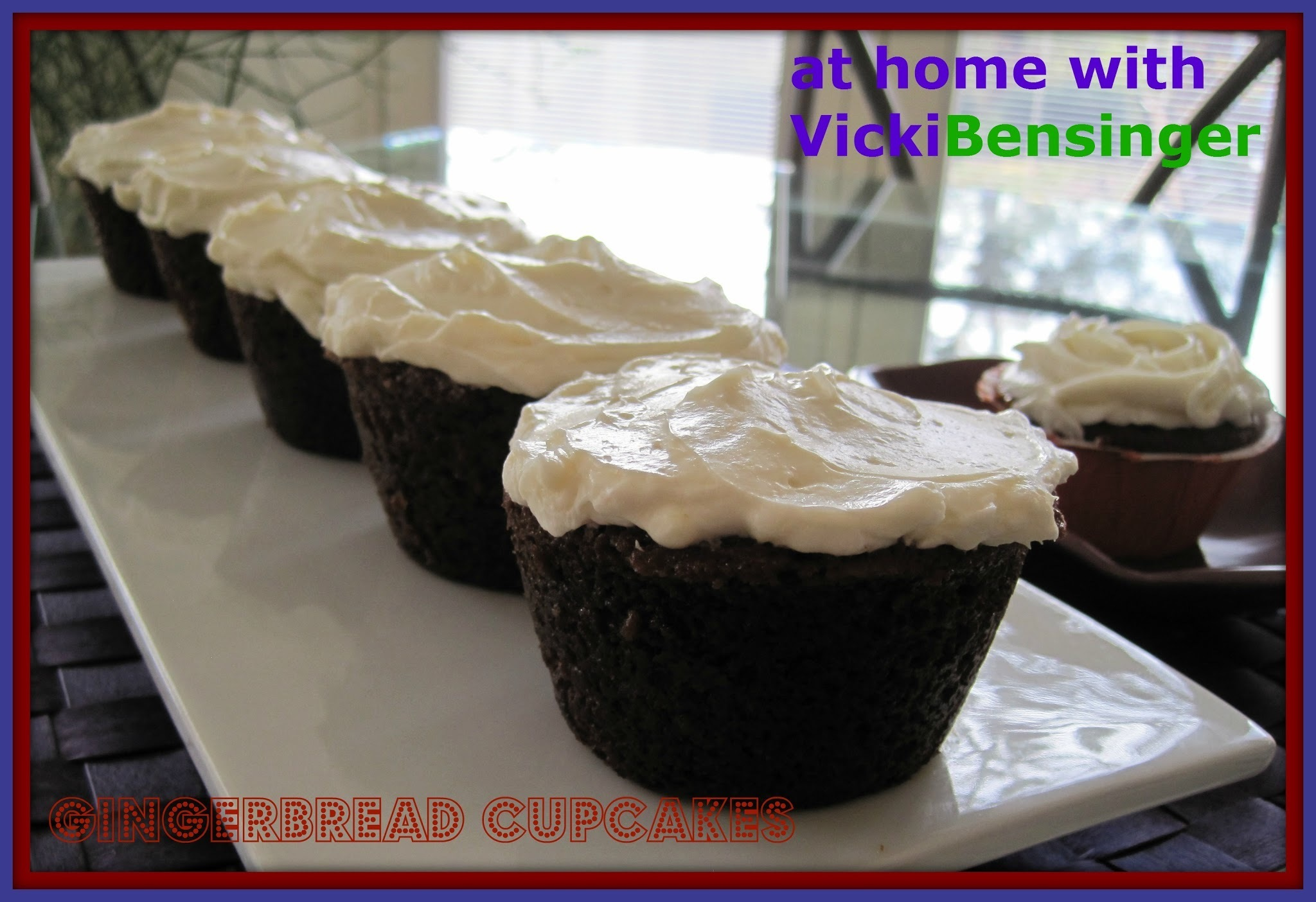 Stuffed Gingerbread Cupcakes with Pumpkin Pudding and Cream Cheese Frosting