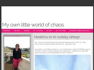 My own little world of chaos -
