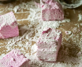 Girly pink marshmallows