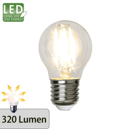 Illumination LED Klar filament lampa E27 2700K 320lm