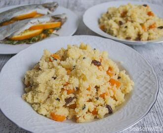 Couscous met sinaasappel en wortel